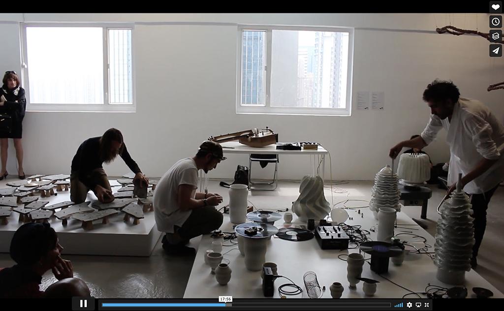 'The Reverse Collection', a performance by Tarek Atoui, with Shane Aspegren and Takuro Mizuta Lippit - Para Site, 2017